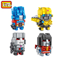 LOZ Optimus Primeand Megatron Bumblebee Starscream 2in1 Mini Blocks Brick Heads Action Figure Toy RPG Game 6+