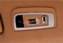 Для Porsche Panamera 970 2010-2015 металлическая крыша заднего света для чтения рамка Крышка отделка 2 шт