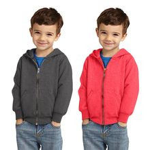 Toddler Kids Unisex Baby Boy Girl Long Sleeve Solid Print Hooded Zipper Sweater Tee Tops Children Clothes Casual Newborn 2018(China)