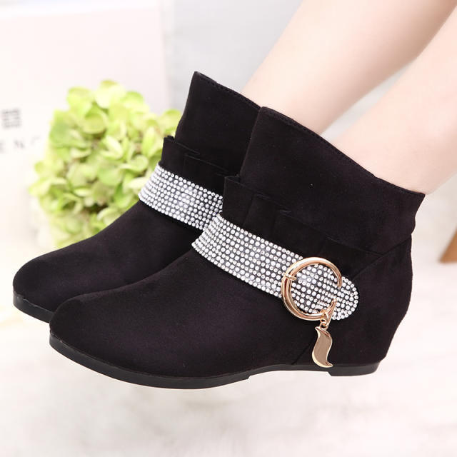 Winter Warm Women Flat Platform Casual Boots Fashion Lady Boot Height Increased Girl Wedge Cotton Shoes 1 Pair/PC Free Shipping