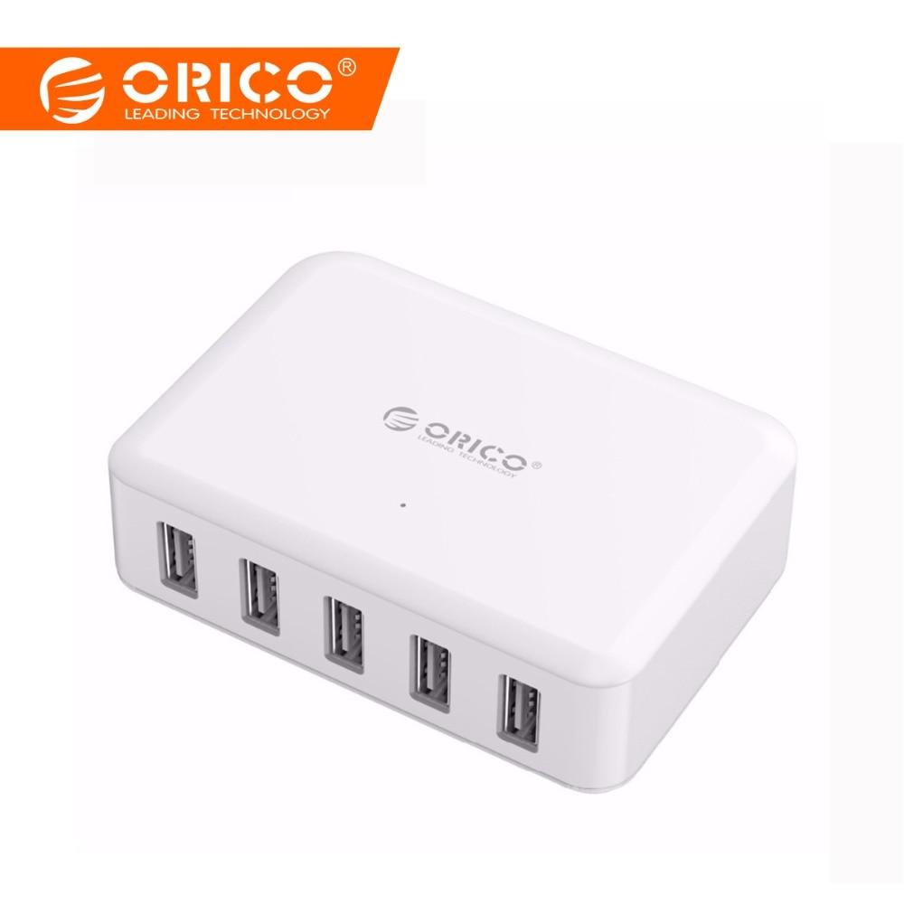 ORICO 5 puertos USB cargador ABS 5 V 8A 40 W PhoneTablet adaptador para iPhone 5x5 5 6 6 7 samsung Galaxy s7 Xiaomi mi Huawei 5 HTC 10 cargador de teléfono