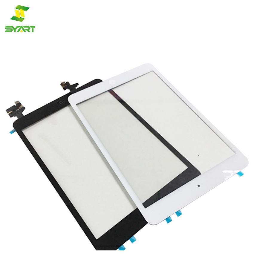 For iPad Mini 1 2 Touch Screen Glass Digitizer Replacement IC Chip Home Button