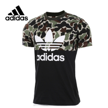 Original New Arrival Official Adidas Originals S/S CAMO COLOR Men's T-shirts short sleeve Sportswear(China)