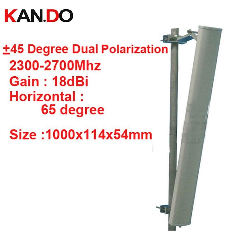 18dbi двойной поляризация + 45 & 45 градусов 2300 2700 мГц Панель Антенна 2.4 г Wi Fi антенны базовой использование станции FDD 4 г антенны, tdd антенны
