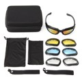 1 Set Motorcycle Sunglasses Sand Sports Riding Goggles Eye Protection Glasses Male Female Generic 4 Lens Kit UV400