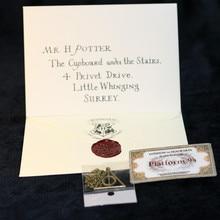 Горячая Распродажа 3 шт./компл. Цепочки и ожерелья допуск письмо hogwartss билет в виде Фигурки Малыш Косплэй Рождественский подарок игрушки
