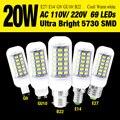 5730SMD Ultra Bright 20 W AC110V/220 V E27/B22/GU10/E14 CONDUZIU a Lâmpada do Bulbo do Milho legal Warm White Luz de Decoração Para Casa