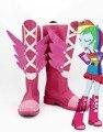 My Little Pony Equestria Meninas Rainbow Dash Rochas cos Cosplay Calçados botas Para O Dia Das Bruxas Natal Para As Mulheres Meninas