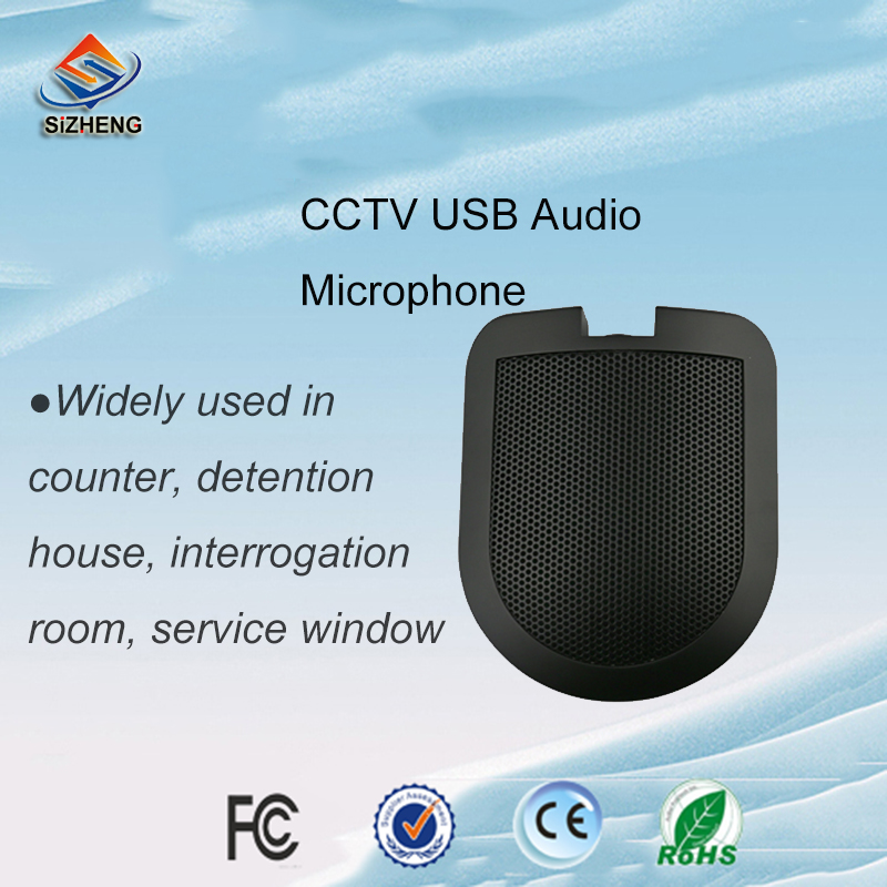 SIZHENG COTT-C3 Fábrica atacado USB CCTV microfone de áudio de som de monitoramento para a mesa