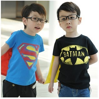 Children Superman Batman Sleeve Girls T Short Baby Shirts Kids ZPOkwilXuT
