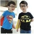 Dos bebés caçoa T-shirt crianças manga curta superman batman camiseta Meninas camisetas 0412 sylvia 39674971393