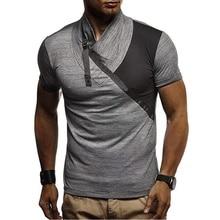 good quality patchwork casual tshirt men 2019 new brand streetwear hip hop t shirt fashion