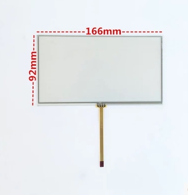166*92 New 6.95 Inch Touch Screen Resistance LCD 7 Inch Car DVD Navigation Touch Screen 166mm*92mm