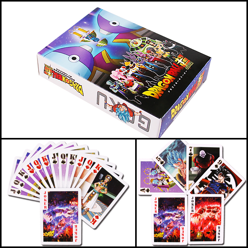 55PCS Dragon Ball Super Ultra Instinct Goku Jiren Poker Game Action Toy Figures Commemorative Edition Collection Cards image