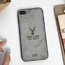 Case For iphone 7 Plus XS MAX XR X SE 5 5s 6 6s Cover Cloth Art Fabric Deer Vintage XiaoMi 8 SE A2 Lite A1 RedMi 6A 5A Note 4X(China)