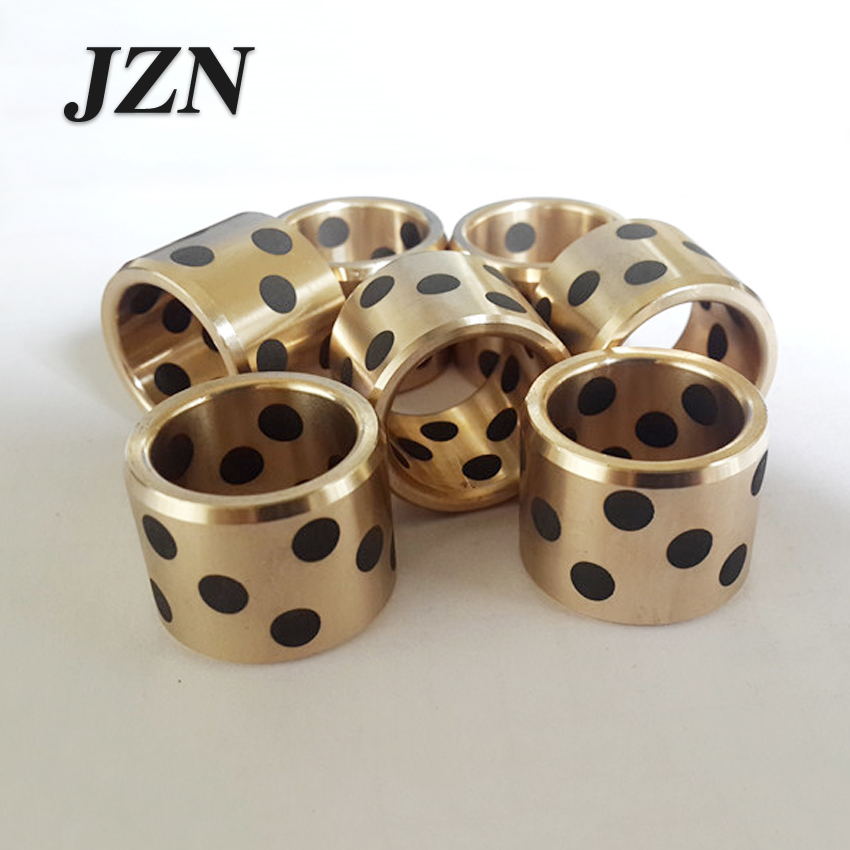 JDB inlaid graphite copper sleeve / oil-free bushings / self-lubricating oil bearing / copper sleeve diameter 5/6/8/10 lm40uu solid inlay graphite self lubricating linear bearings bushings without oil graphite copper sleeve 40 60 80