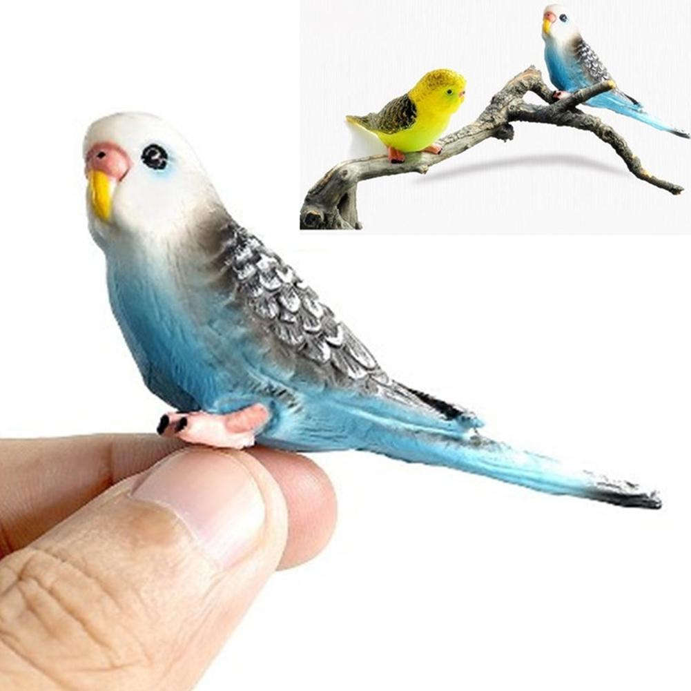 40# Creative Artificial Forest Parrot Bird Mini Animal Model Garden Lawn Yard Micro Landscape Ornament Garden Decoration