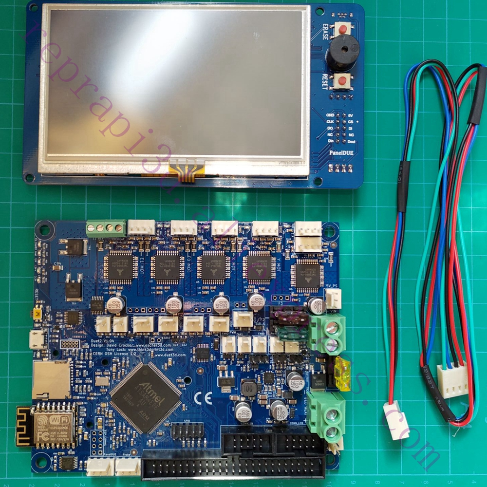 Duet 2 WIFI V1 04 Motherboard DUET WIFI Controller board with PanelDue 7i  4 3i screen Integrated For 3D Printer w/ TF card