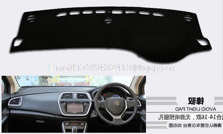 for Maruti Suzuki new S-Cross SX4 2013 2014 2015 2016 dashmats car-styling accessories dashboard cover RHD