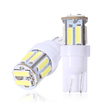 500x t10 7014 7020 10 smd 194 168 w5w conduziu a lâmpada luz de folga luz da placa de licença lâmpada led luzes de largura 10 leds 12v