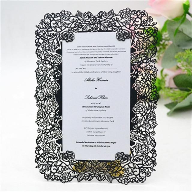 Laser Cut Floral Vines Wedding Invitation Custom Handmade ...