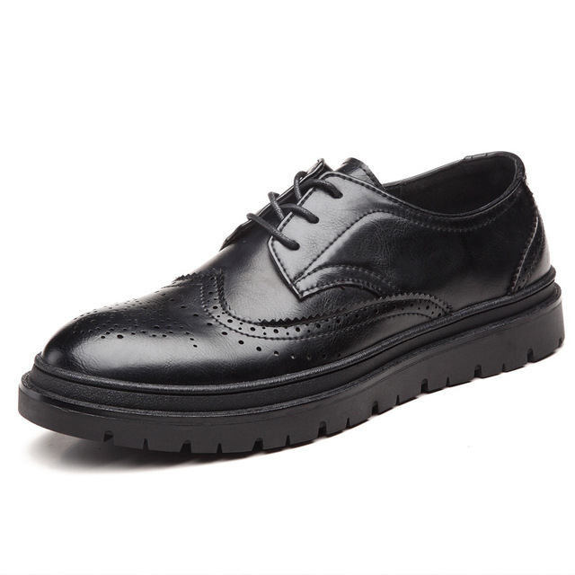 Fashionable Casual Shoes Men's All-Match Shoes Cool Black Walking Shoes For Winter