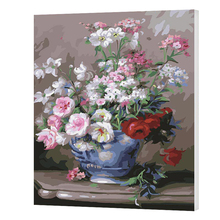 WONZOM Elegant Flowers Vase Painting By Numbers DIY Canvas Art Digital Wall Picture Coloring Artwork For Room Gift