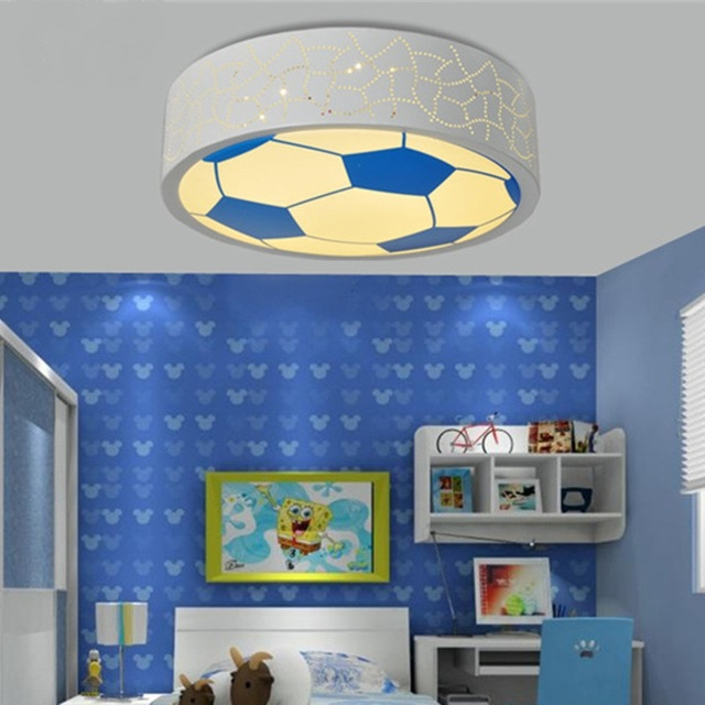 childrens room lighting. Children\u0027s Room Lights Led Ceiling Light Men And Women Cartoon Cute Football Creative Acrylic Round Warm Childrens Lighting E