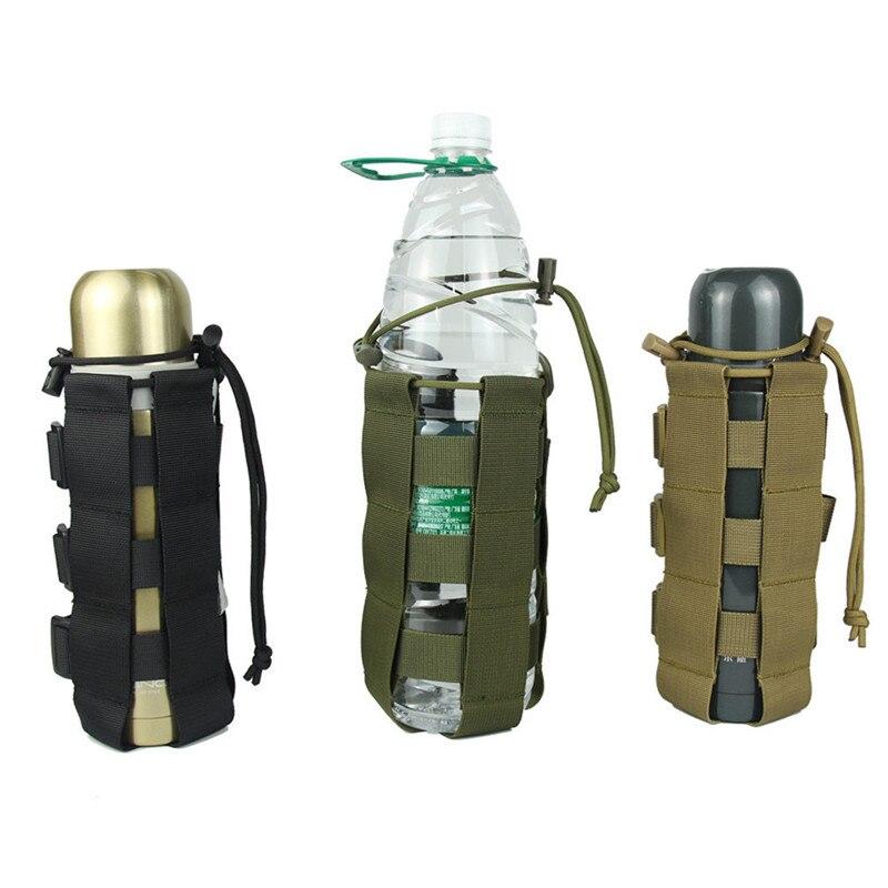 Spor ve Eğlence'ten Spor Şişeleri'de Açık seyahat çok fonksiyonlu renkli su şişe çantası kamp malzemeleri taşınabilir kamuflaj spor su ısıtıcısı seti title=