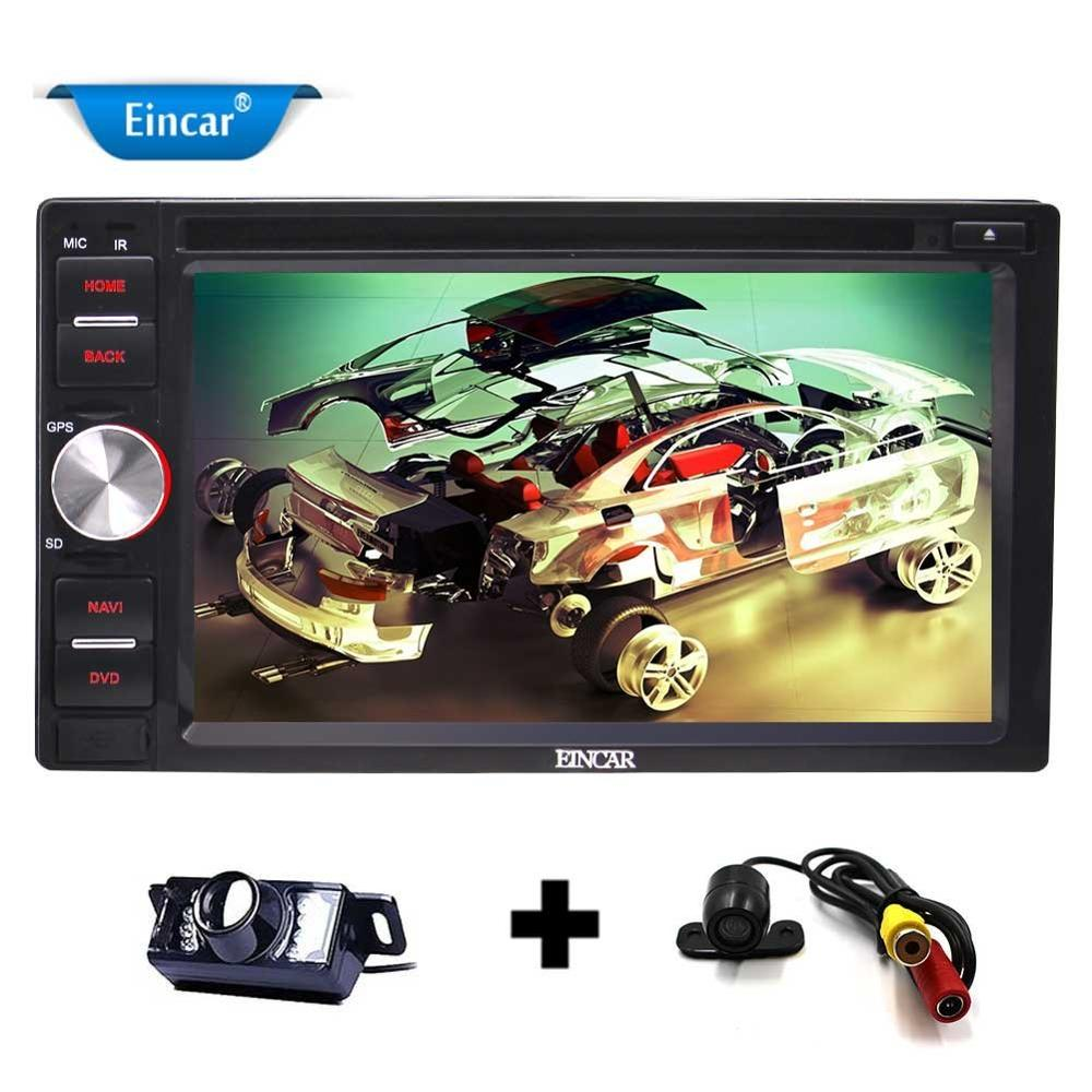 Front and Backup Camera+2 Din 6.2'' Android 6.0 Quad Core Car DVD Player GPS AM/FM Radio/WiFi/Bluetooth/Mirrorlink/SW Control