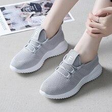 2019 New Fashion Women Sneakers Breathable Women Casual Shoes Flat Low Top Women Trainers zapatos de mujer XU026