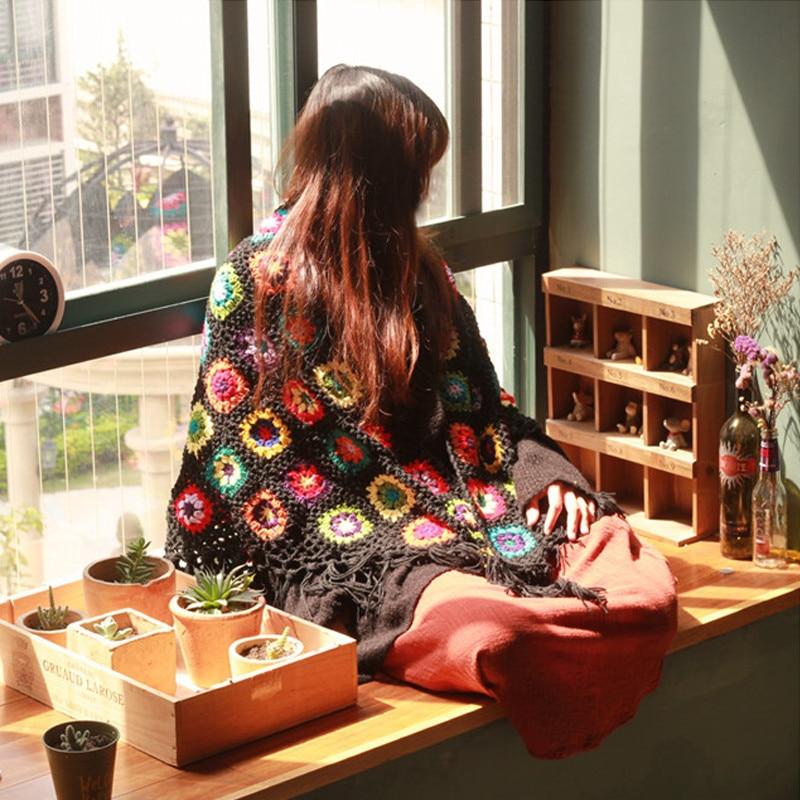 ᗑ】Envío libre mantas hechas a mano ganchillo gancho flor Margarita ...