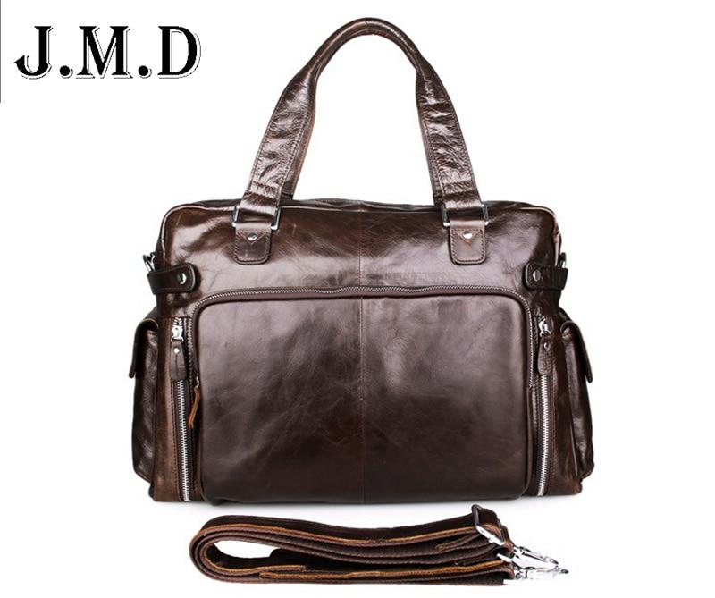 Men bag 2017 vintage men' shoulder bags high quality genuine leather casual messenger bag business men's travel bags men