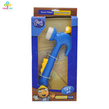 Electric Toy Hammer Plastic Kids Engineer Tools Pretend Play Toy Construction Toys for Boys Children