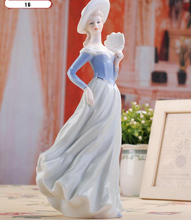 Ceramic Lady Statue Figurines Hand Crafts Decoration