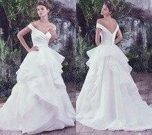 Sexy V Neck Off Shoulder Greek Wedding Dresses Floor Length Organza China Bridal Gowns Handmade KS44