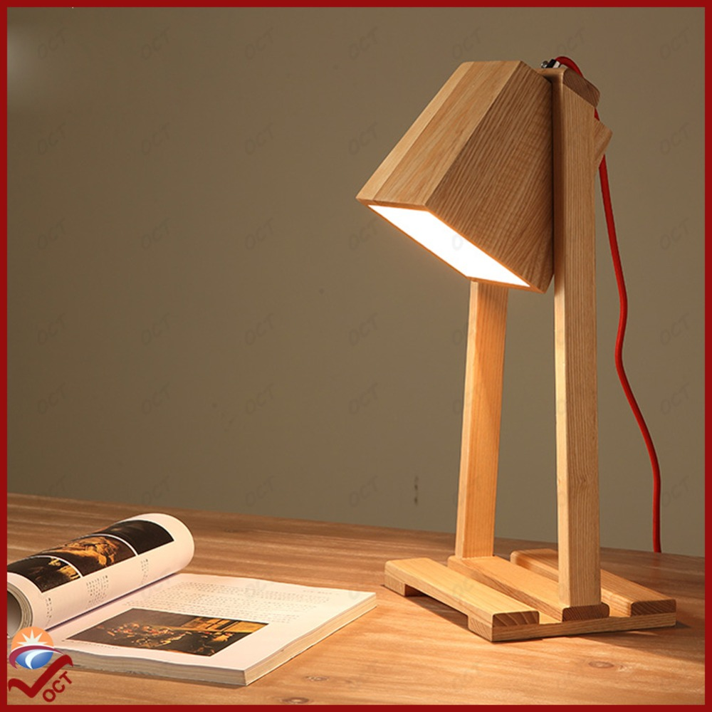 Ordinaire Luxury Led Bulb Wooden Desk Lamp Abajur Modern Dining Study Decorative Square  Table Light Lamp Lamparas De Mesa Luminaria Lampe In Desk Lamps From Lights  ...