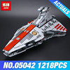 Lepin 05042 Star Series Wars The Republic Fighting Cruiser Set Building Blocks Brick Educational Toys for Children DIY 8039 Gift