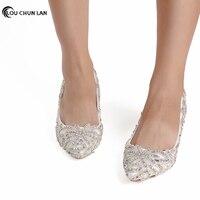 Модельные туфли со стразами на высоком каблуке; Туфли на тонком каблуке; свадебные туфли с острым носком; свадебные туфли; белые женские туф