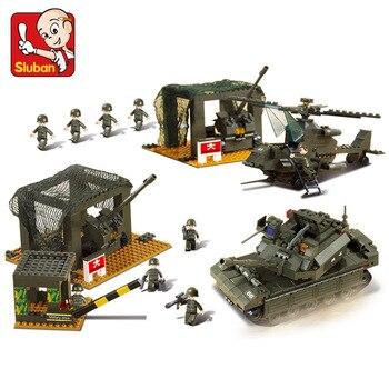 Sluban Modèle Bâtiment Compatible lego Lego B7100 1086 pcs Modèle Kits de Construction Classique Jouets Loisirs Armée Siège
