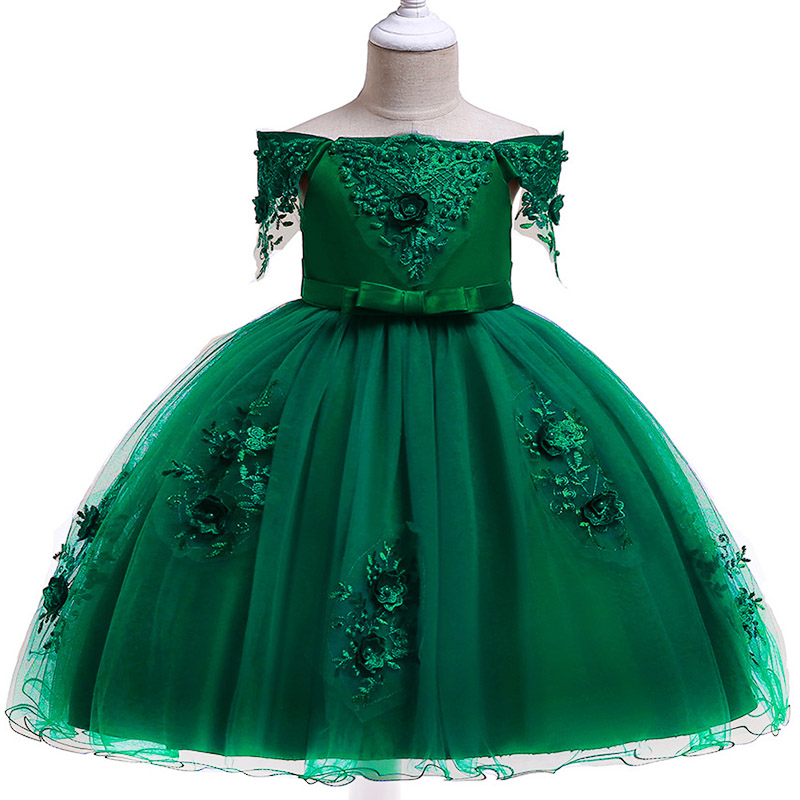 New Girl Dresses Children's Party Clothing Girl Ball Gown Clothes First Communion Princess Dress Baby Tutu Costume Clothes L5057