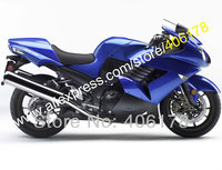 Hot Sprzedaż, 2006-2011 niebieski czarny Dla Kawasaki zx14 ZX14R ZZR1400 ZX 14 ZZR 1400 06 07 08 09 10 11 Fairing Zestaw (Formowanie wtryskowe)