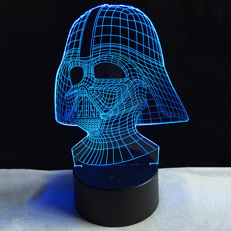 NEW Star Wars Darth Vader Dark Warrior 3D Night light USB LED Table Lamp Multicolor Lighting Visual Touch Cool Figure Kids Toys dark journey star wars the new jedi order