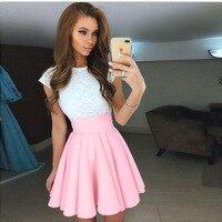 Cute white lace patchwork 4 colors summer dress 2017 ukraine women s o neck short sleeved.jpg 200x200