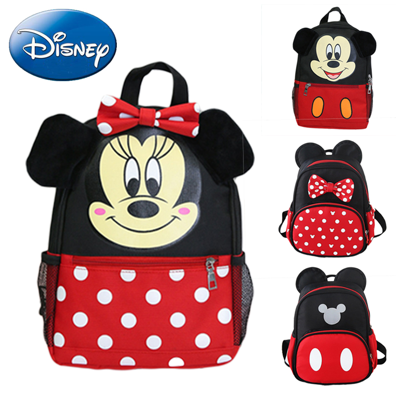 9170b0ff534b Disney 2019 Детский рюкзак для девочек и мальчиков школьная сумка с Микки  Маусом Минни Маус Детские