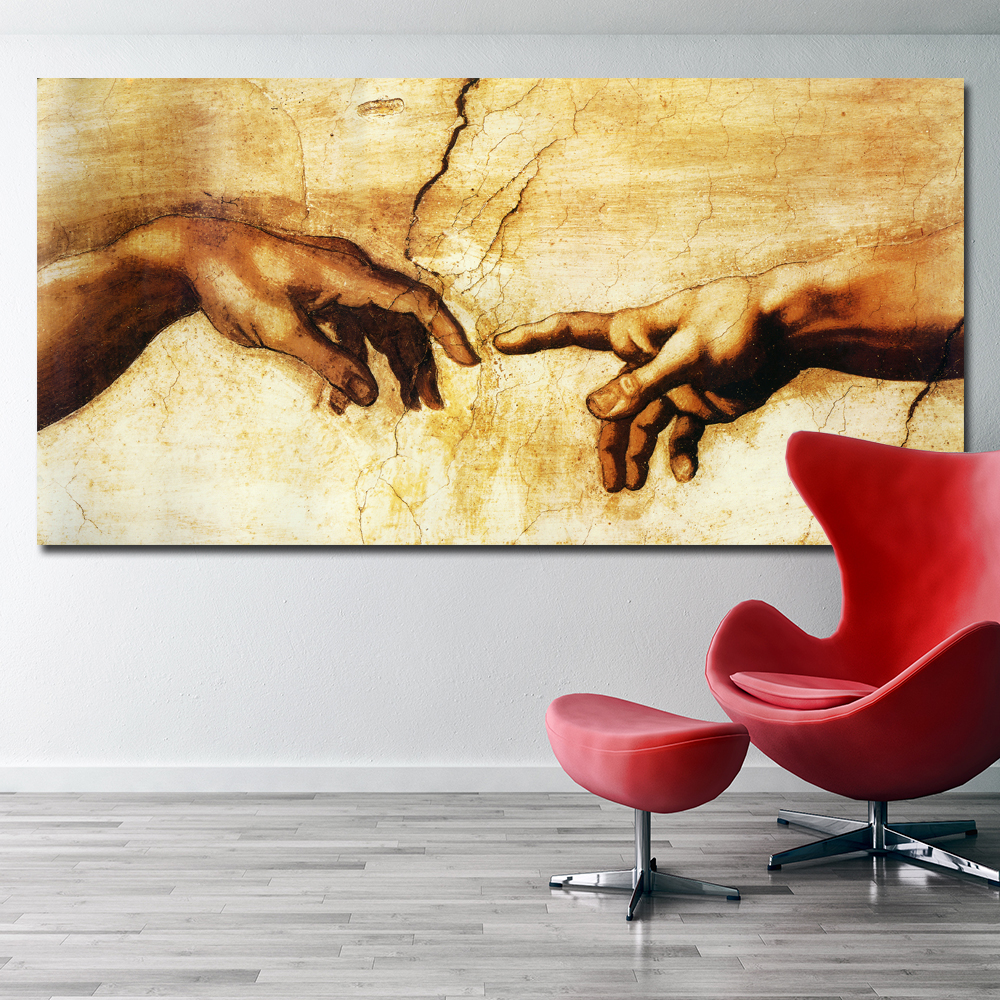 The Creation Of Adam Canvas Painting Canvas Prints Artwork for Home ...