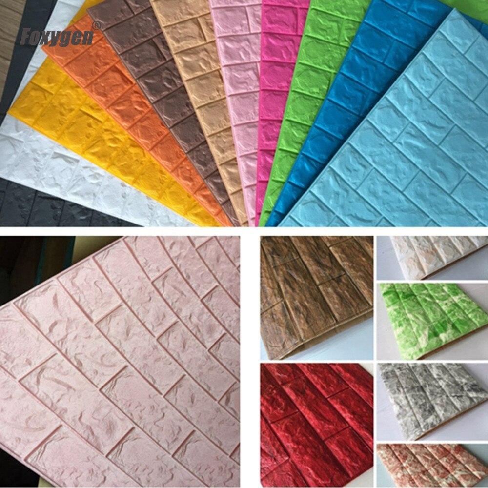 Eco Friendly PE Foam Wallpaper 3D Style Wall Brick For