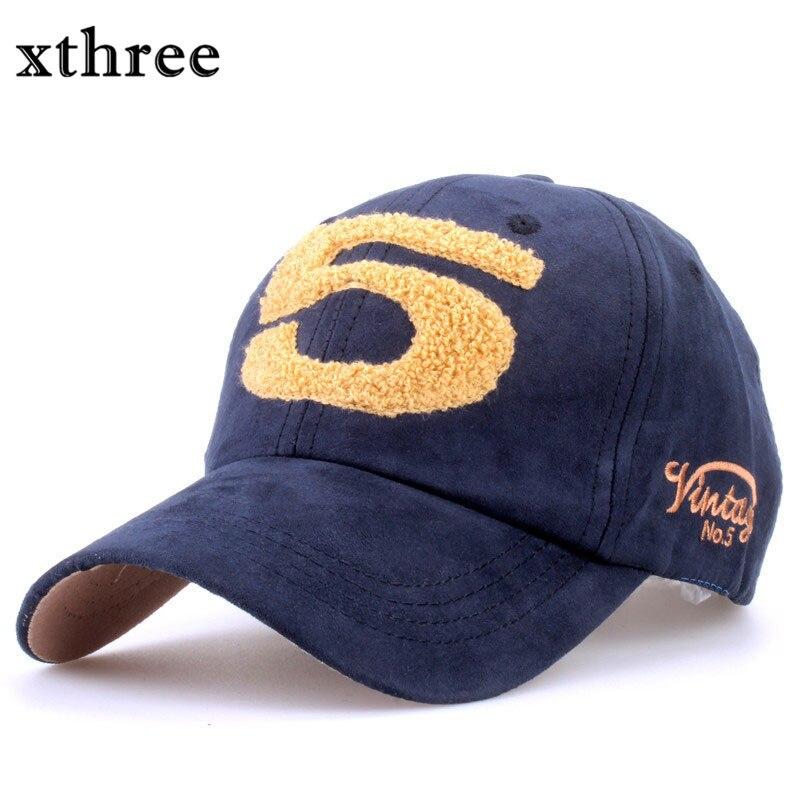 Prix pour Xthree mode qualité En Daim casquette de baseball serviette broderie cap snapback Chapeau pour les femmes Casquette de baseball hommes