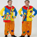 2017 New Hot Halloween Costumes Adult Funny Circus Clown Costume Suit Naughty Harlequin Uniform Fancy Cosplay Clothing for Men
