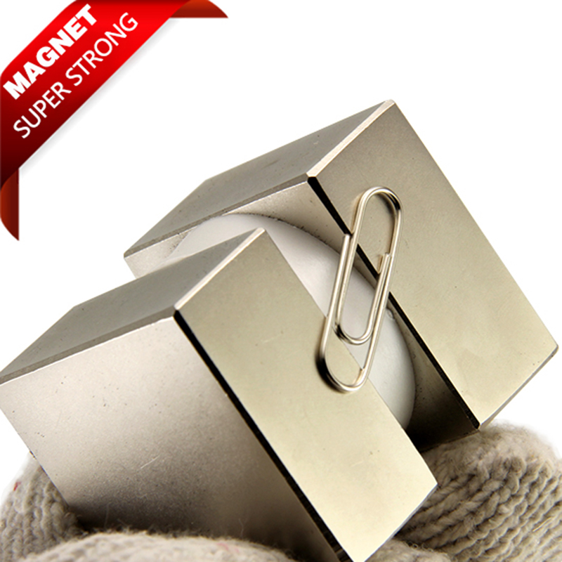 2pcs 40x40x20mm Super Strong Rare Earth pull force 84kg Rare Earth magnets Block N52 Neodymium Magnet high quality 1pcs block 45x45x20mm n52 super strong rare earth magnets neodymium magnet high quality